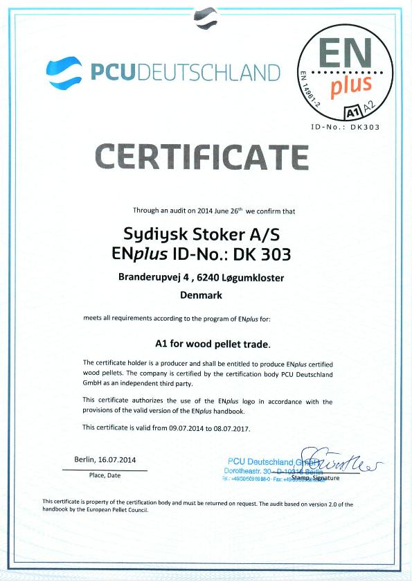 Sydjysk Stoker - SJS.eu - ENplus